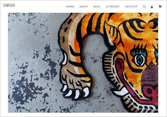 SLOWTIGERの公式サイト